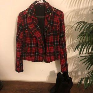 ❤️🖤TORRID Plaid tuxedo jacket 🖤❤️